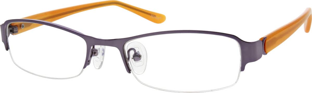 Women Half Rim Mixed Materials Eyeglasses #535811