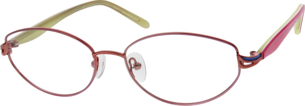 Women Full Rim Titanium Eyeglasses #536019