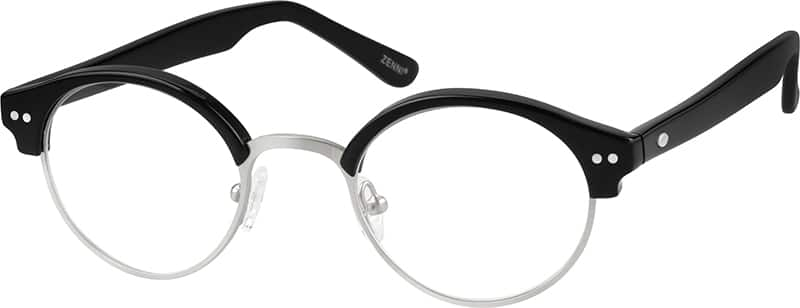 Boy Full Rim Mixed Materials Eyeglasses #536625