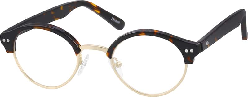 Children's Acetate and Metal Alloy Full-Rim Frame with Acetate Temples