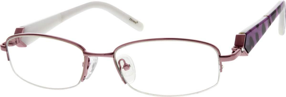 WomenHalf RimMixed MaterialsEyeglasses #536717