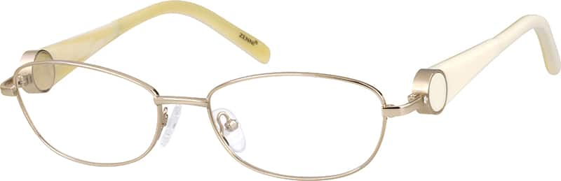 Women Full Rim Mixed Materials Eyeglasses #536811