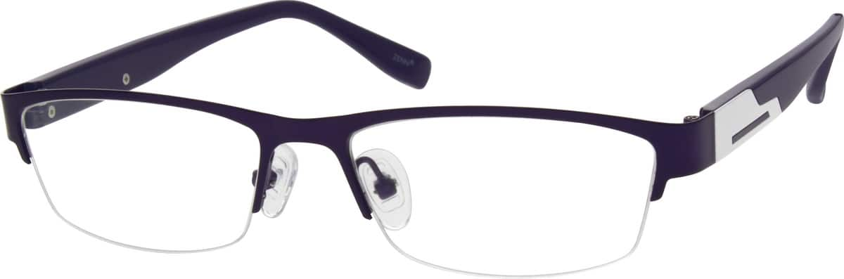 536917-stainless-steel-half-rim-frame-with-acetate-temples