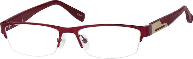 536918-stainless-steel-half-rim-frame-with-acetate-temples