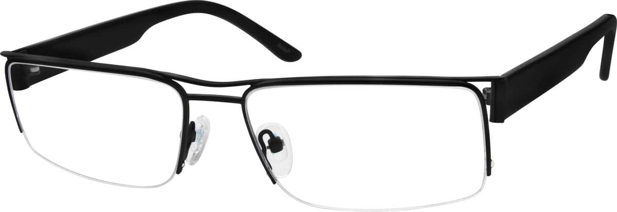 Men Half Rim Mixed Materials Eyeglasses #537021