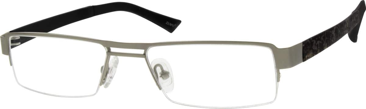 MenHalf RimMixed MaterialsEyeglasses #537516