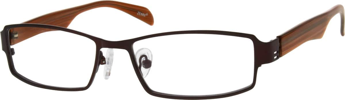 Men Full Rim Mixed Materials Eyeglasses #537615