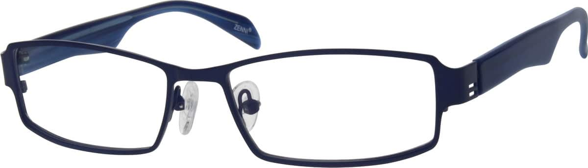 Blue Stainless Steel Full Rim Frame With Acetate Temples #5376 ...