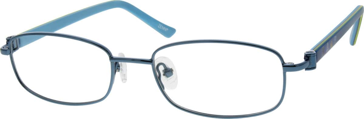 Girl Full Rim Mixed Materials Eyeglasses #537916