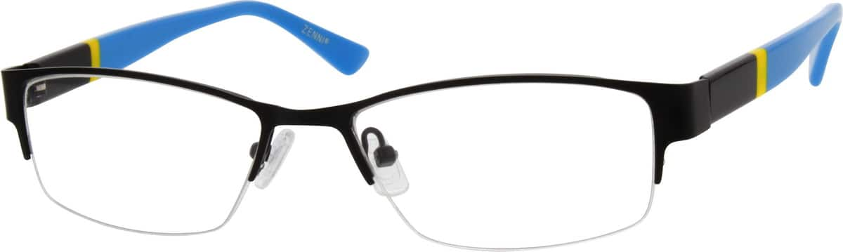 Men Half Rim Mixed Materials Eyeglasses #538021