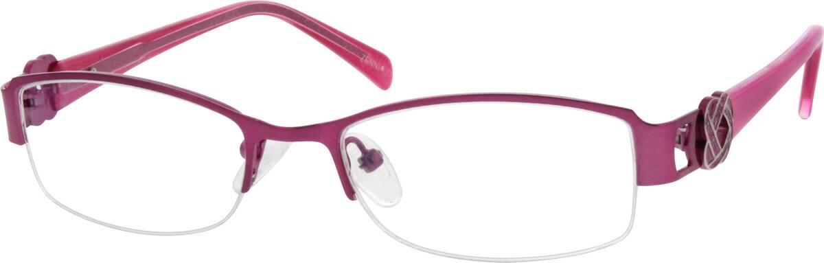 WomenHalf RimMixed MaterialsEyeglasses #538617