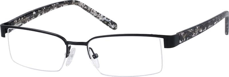Men Half Rim Mixed Materials Eyeglasses #539111