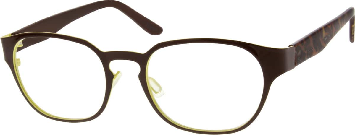 Women Full Rim Mixed Materials Eyeglasses #539915