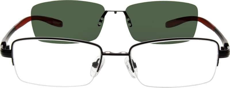 UnisexHalf RimMixed MaterialsEyeglasses #540312