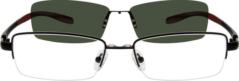 MenHalf RimMixed MaterialsEyeglasses #540412