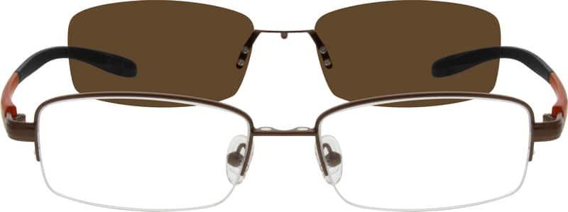 MenHalf RimMixed MaterialsEyeglasses #540515