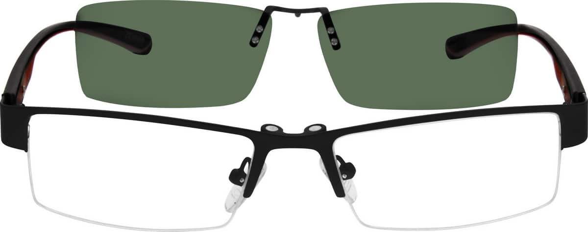 MenHalf RimMixed MaterialsEyeglasses #540712