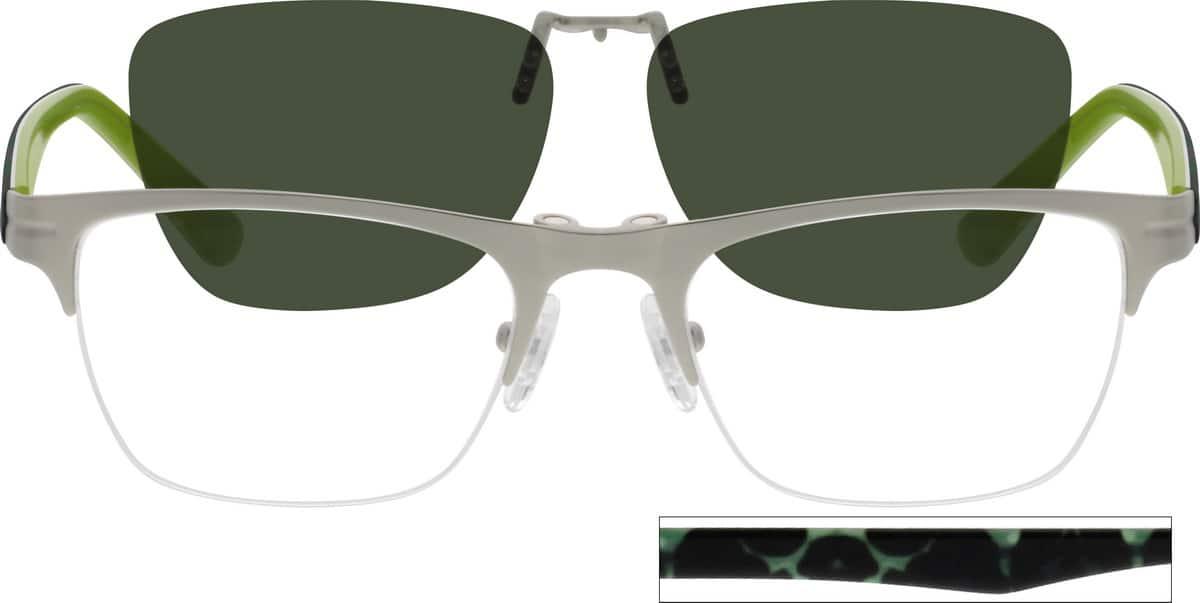 UnisexHalf RimMixed MaterialsEyeglasses #541121