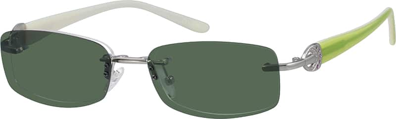 Stainless Steel Rimless Frame with Polarized Magnetic Snap-on Sunlens