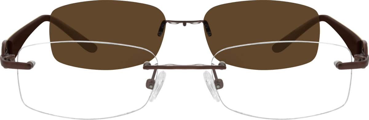 womens-rimless-mixed-materials-rectangle-eyeglass-frames-542015