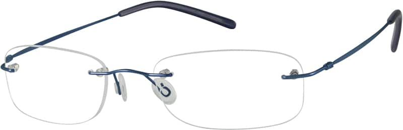 Unisex Rimless Stainless Steel Eyeglasses #550111