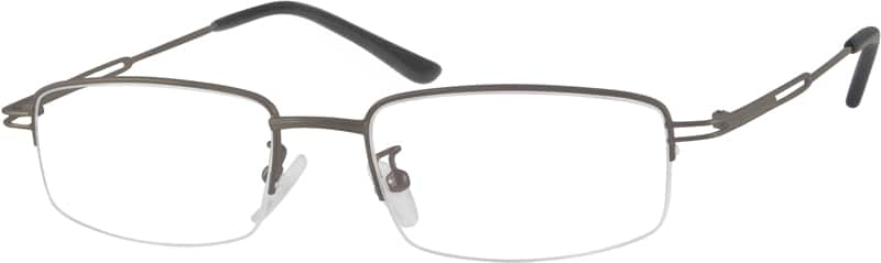 Men Half Rim Metal Eyeglasses #550421