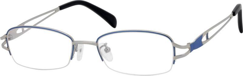 WomenHalf RimMetalEyeglasses #552117