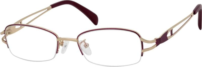 Women Half Rim Metal Eyeglasses #552117