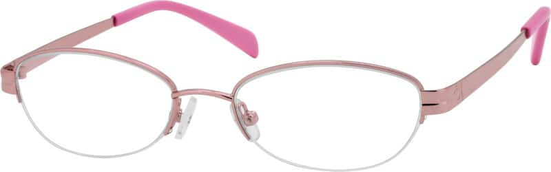 Women Half Rim Metal Eyeglasses #552519
