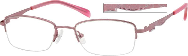 Women Half Rim Metal Eyeglasses #552619