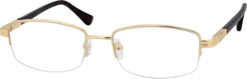 MenHalf RimMixed MaterialsEyeglasses #553014