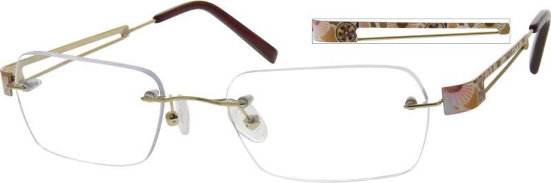 UnisexRimlessStainless SteelEyeglasses #553432