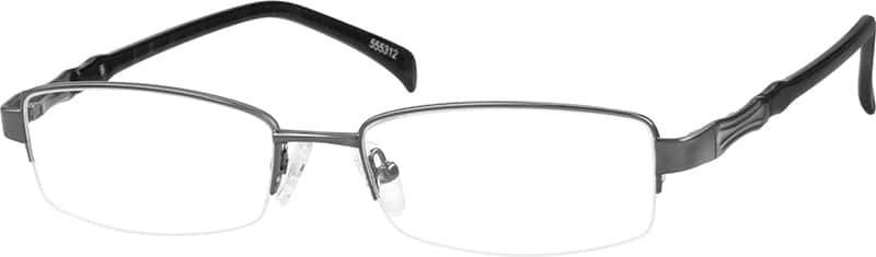 MenHalf RimMixed MaterialsEyeglasses #555312