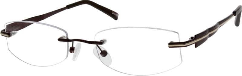 Unisex Rimless Metal Eyeglasses #556115