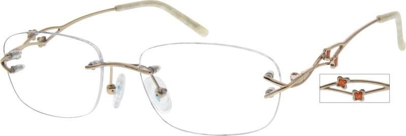 WomenRimlessMetalEyeglasses #557017