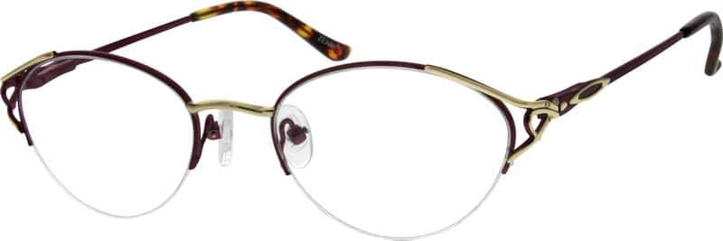 Women Half Rim Metal Eyeglasses #557818