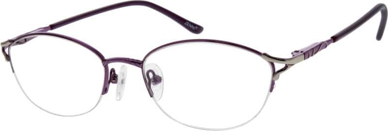 WomenHalf RimMetalEyeglasses #558018