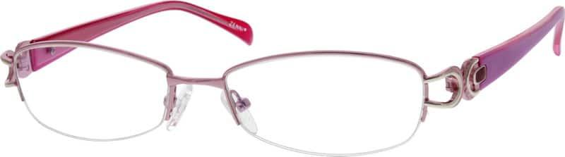 WomenHalf RimMixed MaterialsEyeglasses #558619