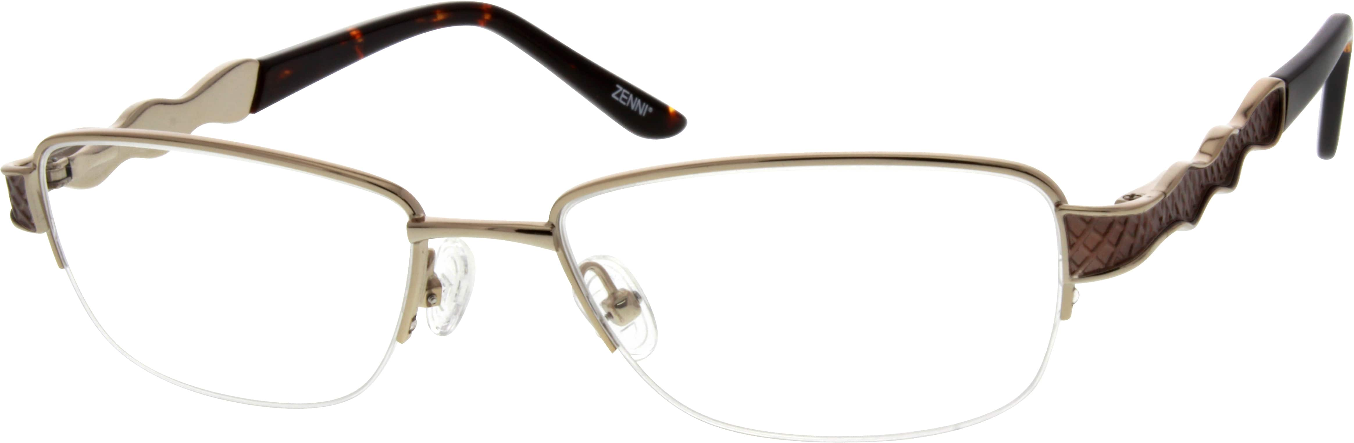 Women Half Rim Metal Eyeglasses #558811
