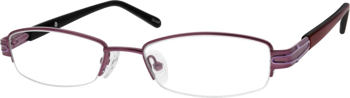 Metal Alloy / Stainless Steel Half-Rim Frame with Spring Hing