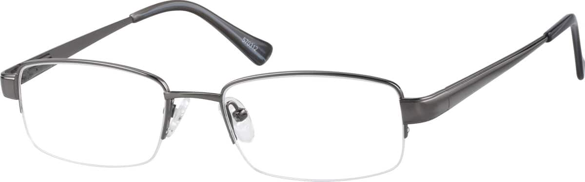 MenHalf RimTitaniumEyeglasses #570312