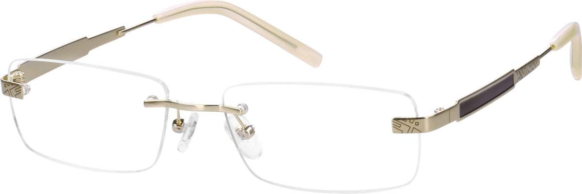 Men Rimless Titanium Eyeglasses #572614