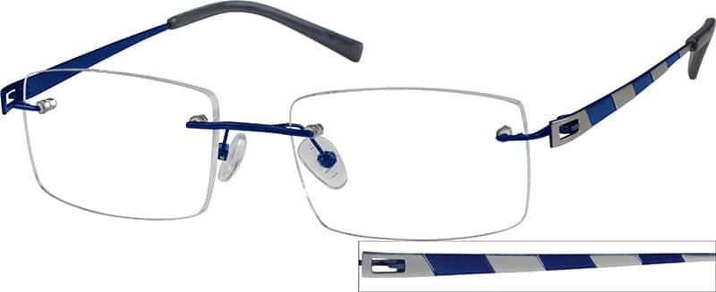 Men Rimless Titanium Eyeglasses #572712