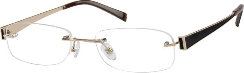 Zenni Optical Mens Rimless Glasses : Silver Rimless Pure Titanium Frame #5740 Zenni Optical ...