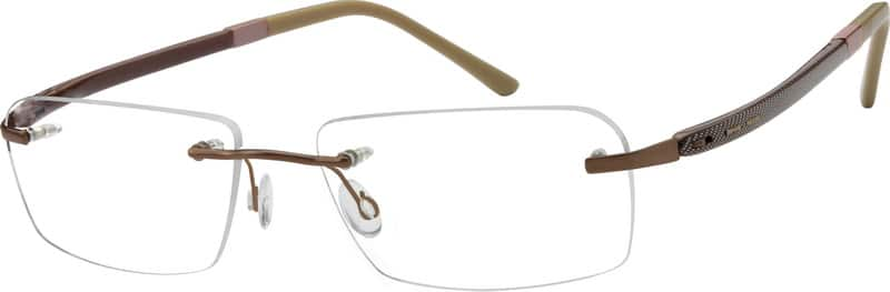 Men Rimless Titanium Eyeglasses #576315