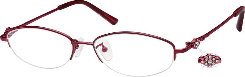 WomenHalf RimTitaniumEyeglasses #577415