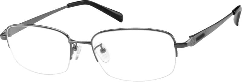 MenHalf RimTitaniumEyeglasses #577914