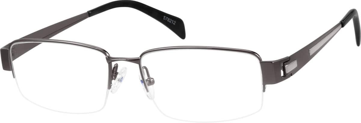 MenHalf RimTitaniumEyeglasses #578212