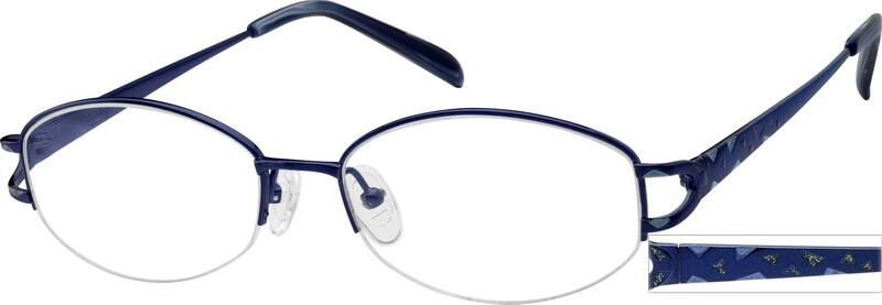 WomenHalf RimTitaniumEyeglasses #578419