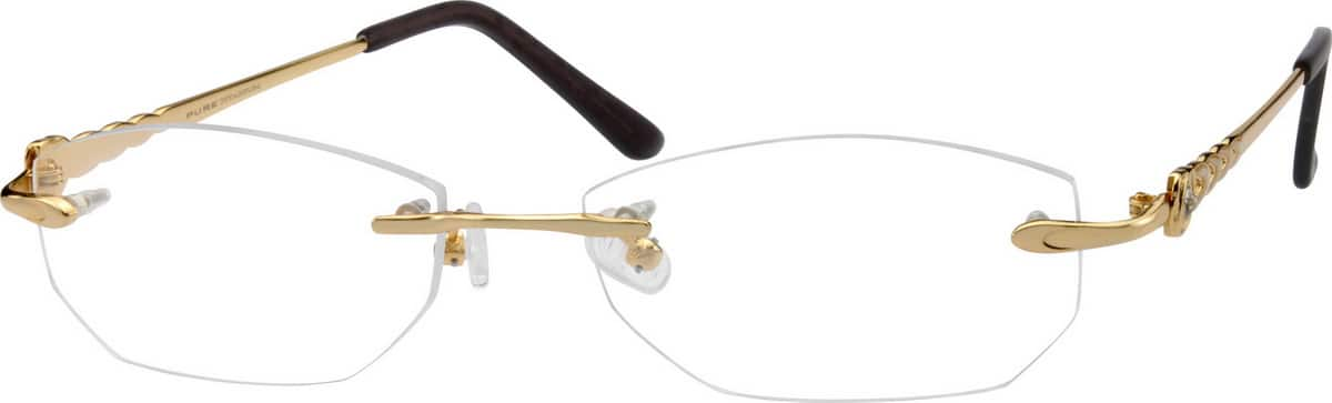 Women Rimless Titanium Eyeglasses #579118